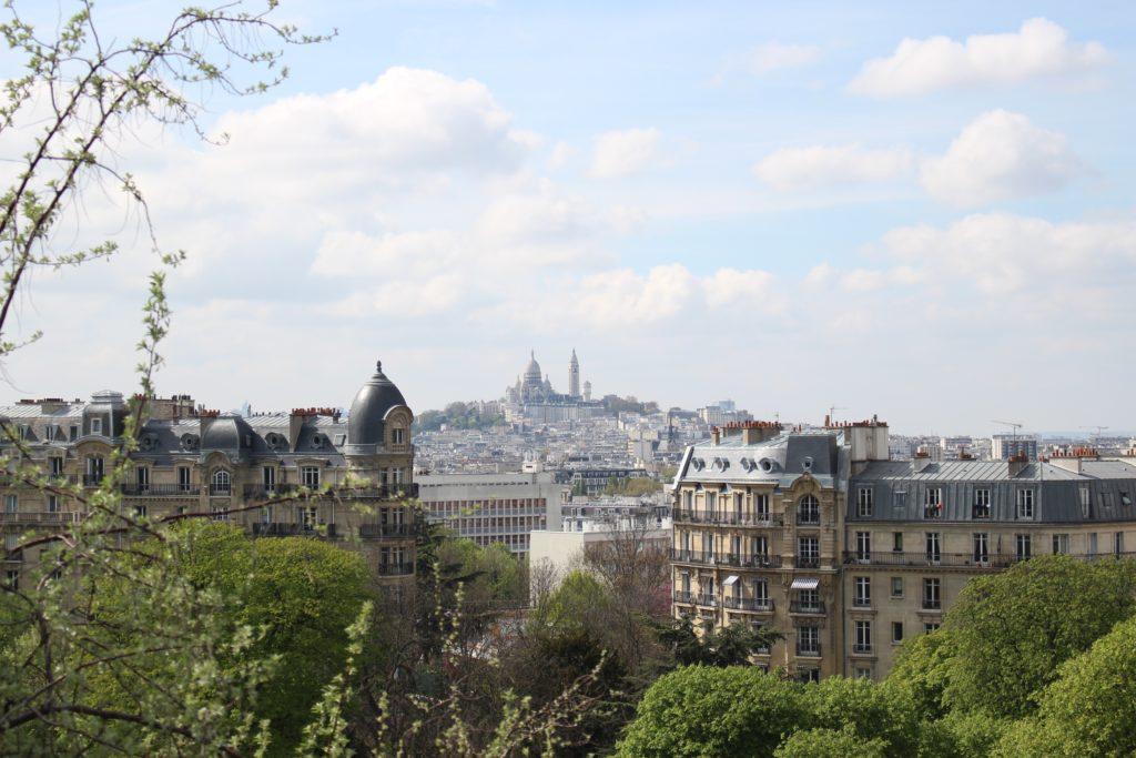 Montmartre vue depuis le Parc des Buttes Chaumont