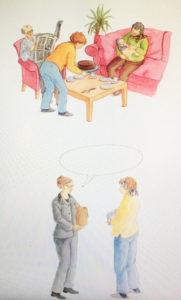 Illustration d'un cliché commun à l'arrivé d'un bébé