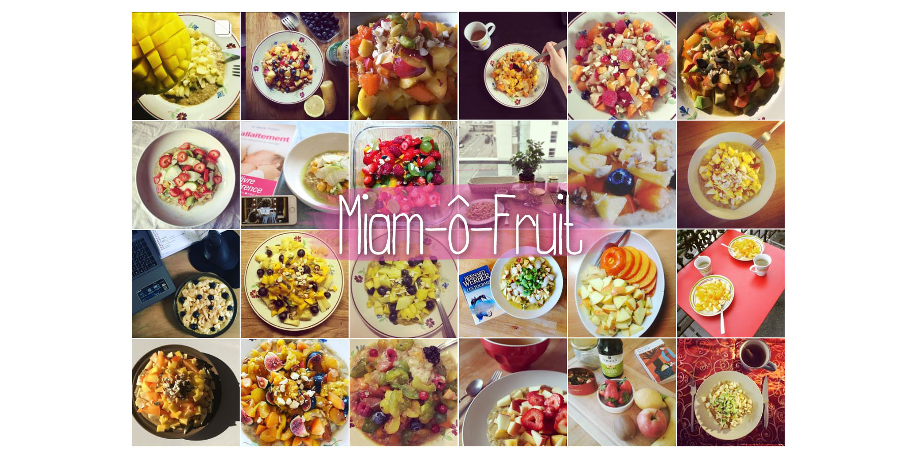 Miam-ô-Fruit sur Instagram