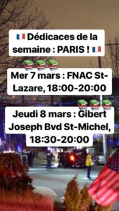 Dates dédicaces Dicker à Paris