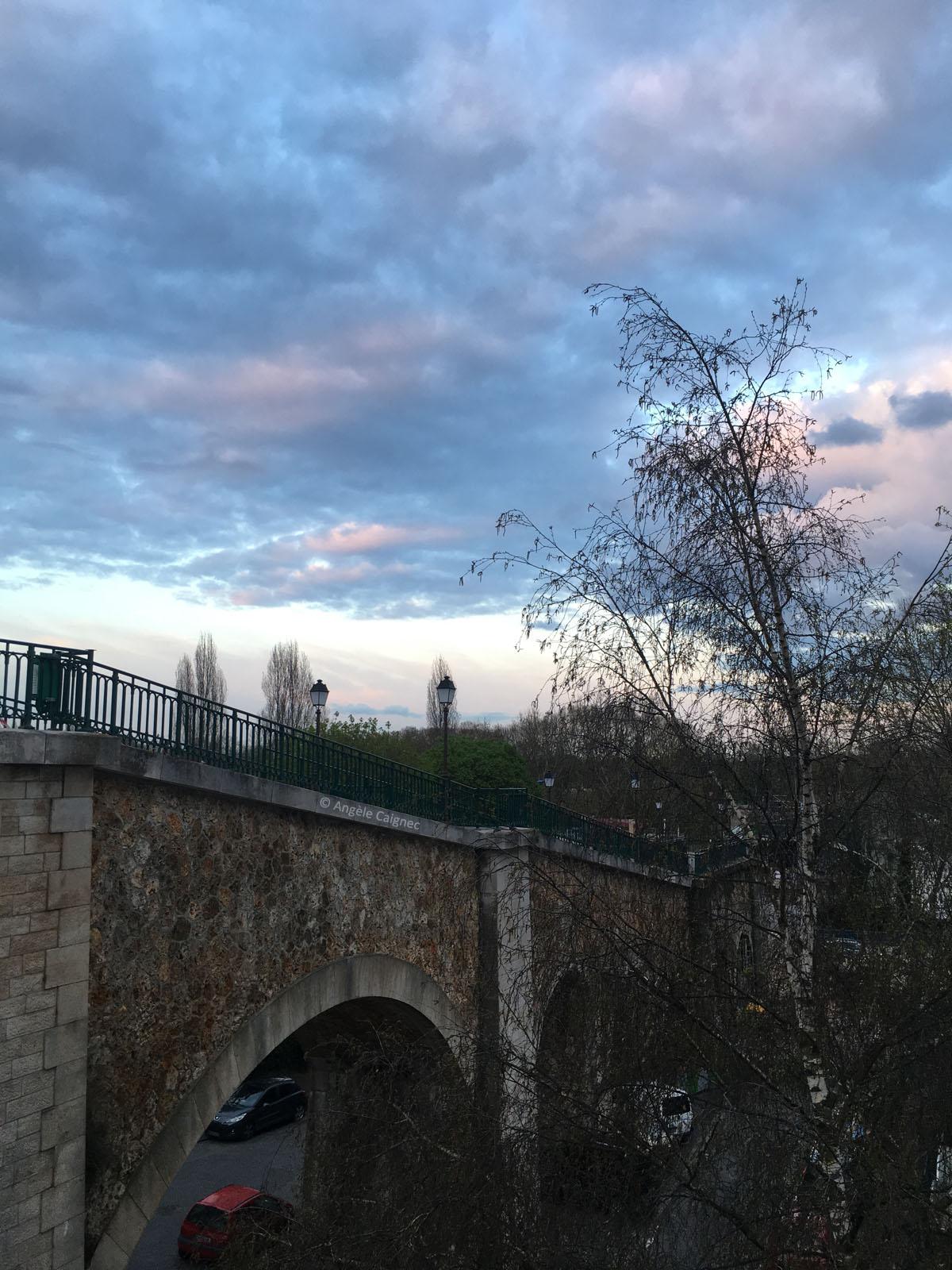 La passerelle piétonne qui relie Saint-Cloud à Boulogne-Billancourt