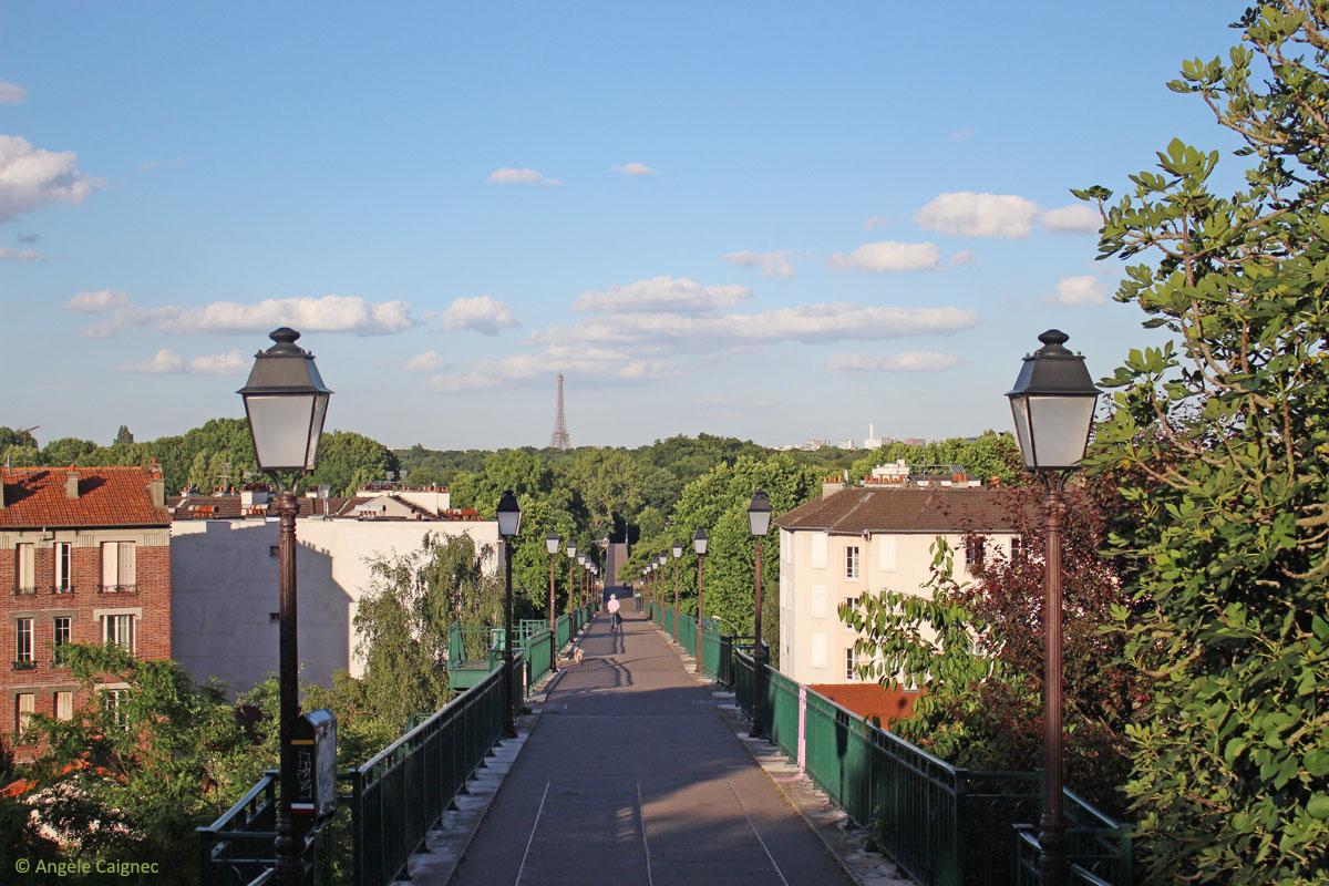 La tour Eiffel depuis St Cloud